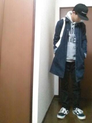 【daiki】さんの「<ストレッチ抜群>シャーリングジョガーパンツ/733901(RAGEBLUE|レイジブルー)」を使ったコーディネート