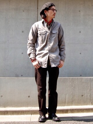 nesaiさんの「505(TM)-レギュラーフィット/ ORIGINAL BLACK RINS J027(Levi's|リーバイス)」を使ったコーディネート