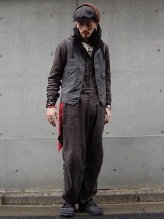 nesaiさんの「cruzer vest(POST O'ALLS|ポストオーバーオールズ)」を使ったコーディネート