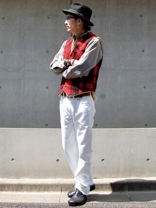 nesaiさんの「501(2013 モデル)/レギュラーストレート/ホワイト/13oz デニム(Levi's|リーバイス)」を使ったコーディネート
