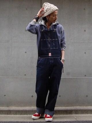 nesaiさんの「LEVI'S(R) VINTAGE CLOTHING-ZIP SWEAT WASHED BLUE(LEVI'S VINTAGE CLOTHING|リーバイス・ビンテージ・クロージング)」を使ったコーディネート