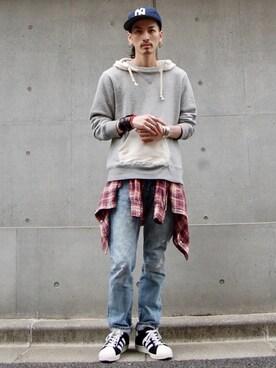 nesaiさんの(501(R) Skinny|ゴーマルイチスキニー)を使ったコーディネート