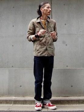 Levi's nesaiさんのデニムパンツ「LEVIS VINTAGE CLOTHING-501XX 1947モデル-リンス(LEVI'S VINTAGE CLOTHING リーバイス・ビンテージ・クロージング)」を使ったコーディネート