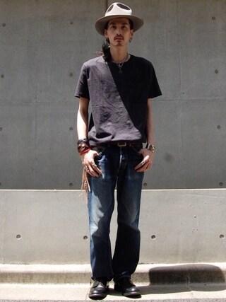 nesaiさんの「LMC POCKET TEE COMMON BLUE(Levi's|リーバイス)」を使ったコーディネート