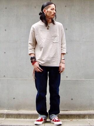 nesaiさんの「LEVIS VINTAGE CLOTHING-501XX 1955モデル-リジッド/MADE IN THE USA(LEVI'S VINTAGE CLOTHING|リーバイス・ビンテージ・クロージング)」を使ったコーディネート
