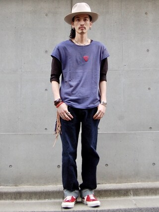nesaiさんの「LEVI'S(R) VINTAGE CLOTHING-BAY MEADOWS CUSTOMIZED PRISM EMBROIDERY(LEVI'S VINTAGE CLOTHING|リーバイス・ビンテージ・クロージング)」を使ったコーディネート
