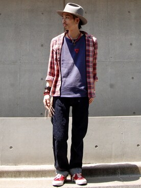 nesaiさんの「LEVI'S(R) VINTAGE CLOTHING-BAY MEADOWS CUSTOMIZED PRISM EMBROIDERY(LEVI'S VINTAGE CLOTHING リーバイス・ビンテージ・クロージング)」を使ったコーディネート