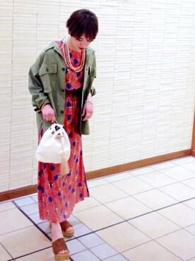 SHIPS EC担当|原田さんのミリタリージャケット「ミリタリーシャツ◇(SHIPS for women|シップスフォーウィメン)」を使ったコーディネート