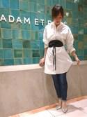 Emilyさんの「レザーリボンベルト(ADAM ET ROPE'|アダム エ ロペ)」を使ったコーディネート