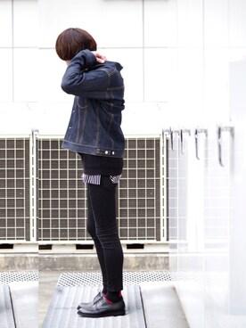 Lui's ルミネマン渋谷店 あらいさんの「鹿の子編ビックニット(Lui's ルイス)」を使ったコーディネート