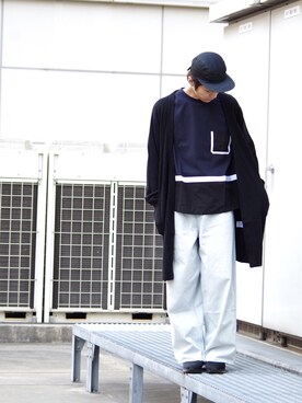 Lui's ルミネマン渋谷店|あらいさんの「ロングカーディガン(Lui's|ルイス)」を使ったコーディネート