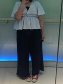 「ASOS Curve ASOS CURVE Belted Wide Leg Jeans With Raw Hem(Asos)」 using this キャシー looks