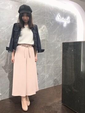 yuka♡さんの「ストレッチデニムGジャン◆(Swingle)」を使ったコーディネート