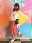 Yumeko さんの「フリルショルダートレーナー(merry jenny メリージェニー)」を使ったコーディネート