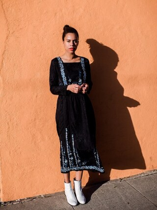 「French Connection Argento Knit Dress(French Connection)」 using this Grasie Mercedes looks