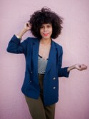 「FOREVER 21 Button-Front Blazer(Forever 21)」 using this Grasie Mercedes looks