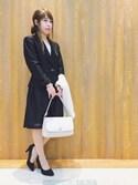 Maaakiさんの「パールブレスレット付きコサージュ(SHOO・LA・RUE|シューラルー)」を使ったコーディネート