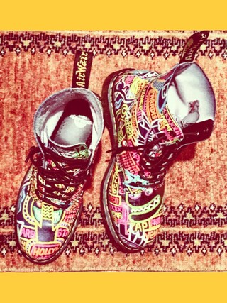 「Dr. Martens 'Pascal' Multi Kaboom Print Boot (Women)(Dr. Martens)」 using this TADANOBUASANO  looks