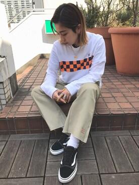 X-girl 原宿|yuuka onoさんの(X-girl|エックスガール)を使ったコーディネート