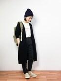 クボヤさんの「もっちりふんわり質感 トッパーニット カーディガン(Pierrot|ピエロ)」を使ったコーディネート