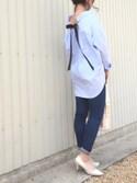 Sari☺︎mさんの「7cmヒールの美脚ポインテッドトゥパンプス(SESTO|セスト)」を使ったコーディネート
