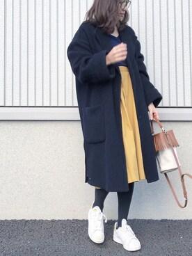 ryokoさんの「ウールブレンドダブルカフスコート(Mila Owen)」を使ったコーディネート