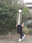 良太郎さんの「タスランMA-1ジャケット(CIAOPANIC TYPY|チャオパニックティピー)」を使ったコーディネート