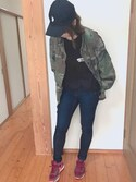 なつこ is wearing ZARA