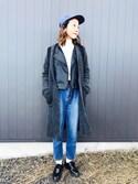 りょんさんの「WOMEN カシミヤタートルネックセーター(長袖)(ユニクロ|ユニクロ)」を使ったコーディネート