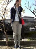 「WOMEN スウェットフルジップパーカ(長袖)(ユニクロ)」 using this ちはる looks