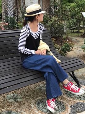 chiharuさんの「converse コンバース ALL STAR OX オールスター OX 3216 RED(US)(CONVERSE|コンバース)」を使ったコーディネート