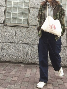 rkmmさんの「12.75ozオールドデニムワイド5ポケットパンツ#(JOURNAL STANDARD)」を使ったコーディネート