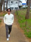 KYOHEI.Sさんの「SILVER HOOP PIERCE(GDC|ジーディーシー)」を使ったコーディネート