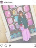 chanyumi.wさんの「スリットフリルワイドパンツ(merry jenny|メリージェニー)」を使ったコーディネート