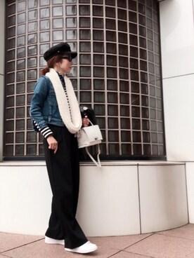 まりこ♡さんの「YANUK リアルLightGジャン ブルー(YANUK|ヤヌーク)」を使ったコーディネート