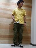 TTさんの「【直営店限定】 avirex/アヴィレックス/ COTTON RIPSTOP FATIGUE PANTS/ コットンリップストップ ファティーグ パンツl(AVIREX|アヴィレックス)」を使ったコーディネート