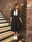 Chie ♡さんの「【LOVELESS】WOMENS リネンストライプマリンジャケット(LOVELESS|ラブレス)」を使ったコーディネート