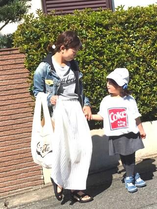 「ラッフルヘムプリーツロングスカート 745828(LOWRYS FARM)」 using this DIESEL 福岡 mayoooo85 looks