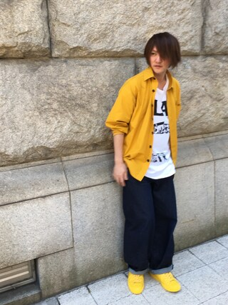 「【my beautiful landlet】   high density typewriter shirt(my beautiful landlet)」 using this 寺田イス銀河 looks
