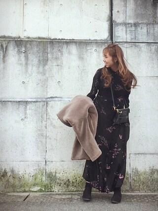 Chinatsu♡さんの「テディボアコート(OPAQUE.CLIP|オペークドットクリップ)」を使ったコーディネート