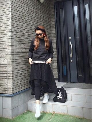 Chinatsu♡さんの「converse コンバース ALL STAR MONOCOLORS II HI オールスター モノカラーズ 2 ハイ 32960200 WHITE(CONVERSE|コンバース)」を使ったコーディネート