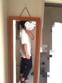 ✔️いろは✔️さんの「イージーアンクルパンツ(ウールライク・センタープレス・レングス68~72cm)(ユニクロ ユニクロ)」を使ったコーディネート