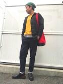 Ryo=͟͟͞͞➳❥さんの「ヴィンテージ加工 スリムチノジョガーパンツ(FREAK'S STORE フリークスストア)」を使ったコーディネート