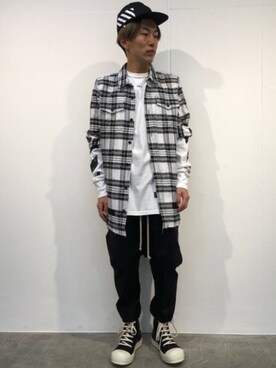 MIDWEST TOKYO MEN|MIDWEST江口貴康さんの「OFF WHITE 『DIAG BRUSHED』キャップ(off white)」を使ったコーディネート