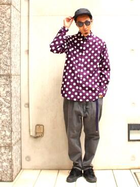 BEAMS MEN| SHIMIZU/BEAMS  さんのシャツ/ブラウス「BEAMS / ビッグドット ミニレギュラーシャツ(BEAMS|ビームス)」を使ったコーディネート