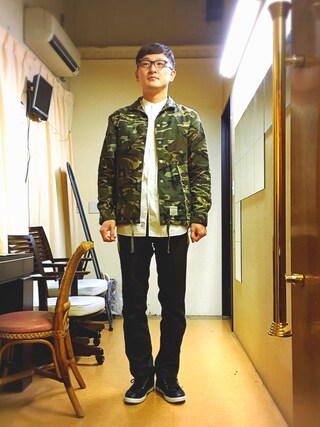 「mj4354-FRANKEN CAMO COACH JACKET ジャケット(EGO TRIPPING)」 using this ロバート馬場裕之 looks