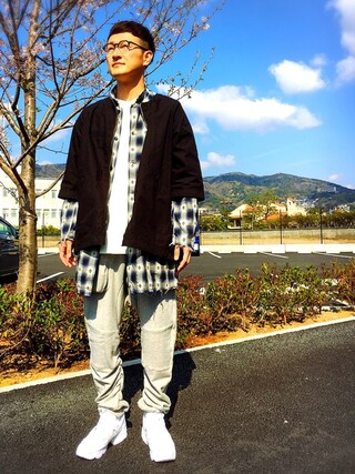「NATIVE MIDDLE CHECK SHIRTS(VIRGO)」 using this ロバート馬場裕之 looks