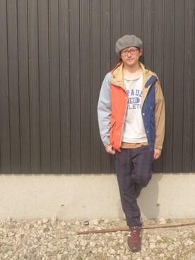 吉野 (あきんこ)さんの(THE NORTH FACE PURPLE LABEL|ザ ノースフェイス パープルレーベル)を使ったコーディネート