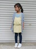chipurikaさんの「花柄シュシュ【PLAIN CLOTHING】(PLAIN CLOTHING|プレーンクロージング)」を使ったコーディネート