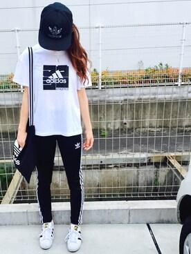 riosa◡̈⃝︎⋆︎*さんの「adidas Originals / AC FITTED CAP(adidas)」を使ったコーディネート